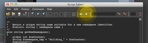 Maya Run Script Button Reveal